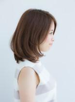 ★ひし形シルエット骨格矯正カット★(髪型ミディアム)