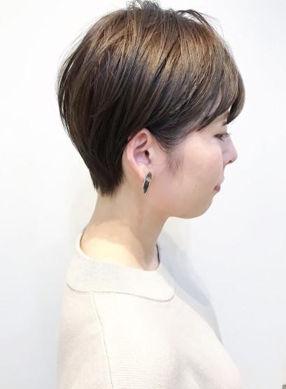 30代・40代◎襟足スッキリショート(髪型ベリーショート)
