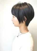 30代・40代◎黒髪スッキリショート(髪型ショートヘア)