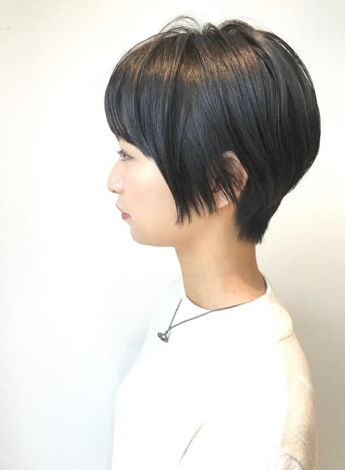 ショートヘア 30代 40代 黒髪スッキリショート Vieの髪型 ヘア