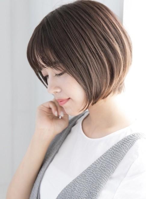 ボブ】骨格矯正ひし形ショートボブ/Laf from GARDENの髪型・ヘア ...