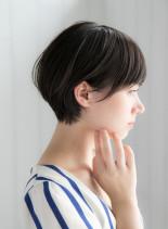 骨格矯正ひし形ショートボブ(髪型ショートヘア)