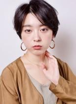 大人のクール系ひし形ショート(髪型ショートヘア)