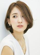 30代〜の美シルエット耳かけボブ(髪型ボブ)