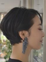 大人のハンサムショート(髪型ショートヘア)