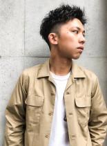 ★テクノワイルドツーブロックショート★(髪型メンズ)