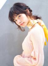 フレンチローポニー(髪型ミディアム)