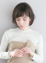 大人可愛い・モード・マッシュショートボブ(髪型ショートヘア)