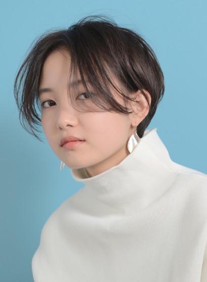ナチュラルモードショート(髪型ショートヘア)