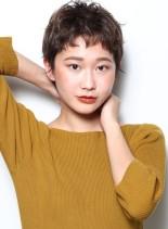 抜け感シルキーショート(髪型ベリーショート)