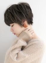 大人カジュアルなマニッシュショートヘア(髪型ショートヘア)