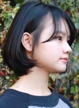 シンプルショートボブ(髪型ボブ)