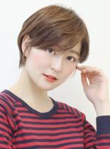 30代〜の耳かけコンパクトショート(髪型ショートヘア)