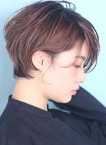 後頭部ふんわり☆大人可愛いくびれショート(髪型ショートヘア)
