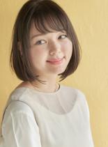 【30代】大人可愛い小顔シースルーバング(髪型ボブ)