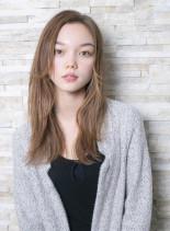 外国人風ミルクティーブラウン☆(髪型ロング)