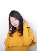 エアリーでほどよい艶感☆イルミナカラー(髪型セミロング)