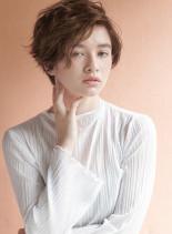 ふんわりウェーブスタイル(髪型ショートヘア)