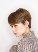 前下がりマニッシュクールショート(髪型ショートヘア)