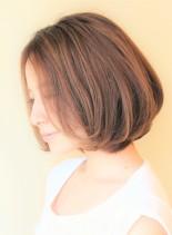 30代40代50代〜のひし形ワンカール(髪型ボブ)