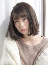 ナチュラルヌーディボブ(髪型ボブ)