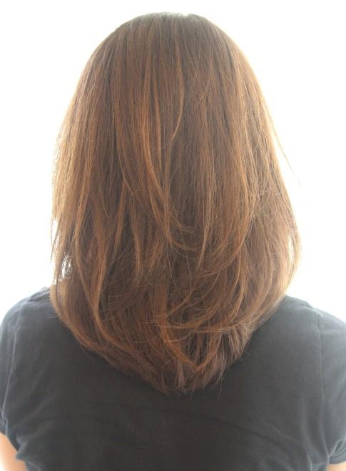 ミディアム】30代40代50代〜のひし形ミディ/Reunaの髪型・ヘア
