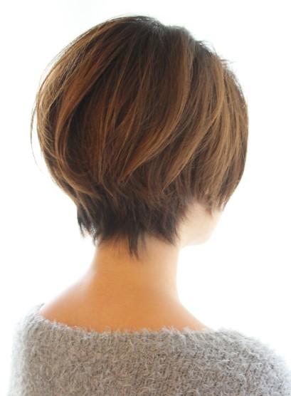 30代40代50代ひし形耳かけショート(髪型ショートヘア)