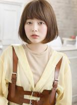 レイヤーボブ×アクセサリーカラースタイル(髪型ボブ)