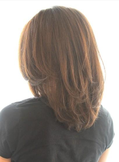 30代40代50代〜のひし形ミディ(髪型ミディアム)