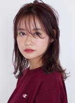 うざバングのラフミディ☆(髪型ミディアム)