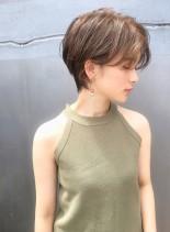 小顔かわいいハンサムショート   (髪型ショートヘア)