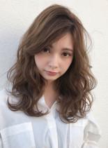 ラフウェーブで柔かく作るミディ☆(髪型セミロング)
