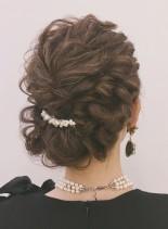結婚式やパーティーに☆アップスタイル(髪型ロング)