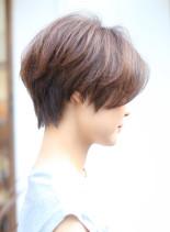 小顔ハンサムショート(髪型ショートヘア)
