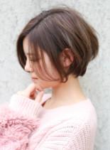 大人なかわいい 小顔ハンサムショート(髪型ショートヘア)