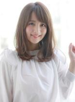 大人かわいいモテミディアムパーマスタイル(髪型ミディアム)