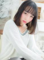 インナーカラー★スポンテニアスミディ(髪型ミディアム)