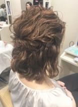 大人かわいいハーフアップ(髪型ミディアム)