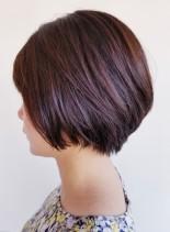 30代40代◎ふんわりショートボブ(髪型ショートヘア)