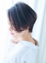 40代50代 骨格美ハンサムショート(髪型ショートヘア)