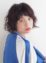 カジュアルショートボブ(髪型ショートヘア)