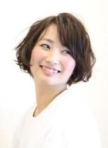 大人カジュアルショートボブ(髪型ショートヘア)