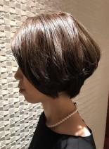 大人の柔らかショートボブ(髪型ショートヘア)