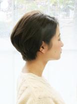30代40代さっぱりショートヘア(髪型ショートヘア)