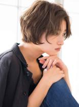 大人クールなジェンダーレスショート(髪型ショートヘア)