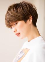大人可愛い美シルエットフレンチショート(髪型ショートヘア)