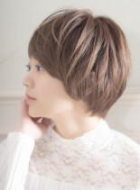 【30代】大人可愛い小顔ショート(髪型ショートヘア)