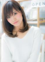 モテのテッパン☆ナチュラルワンカール(髪型セミロング)