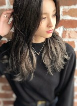 グラデで作る☆グレージュカラー(髪型セミロング)