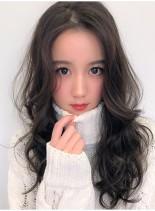 大人可愛いオルチャンヘア(髪型ロング)
